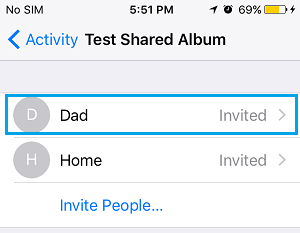 Remove People from iCloud Shared Albumon iPhone