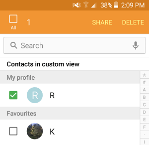 Select Contacts to Delete on Android