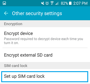 Set Up SIM Card Lock Option on Android Phone
