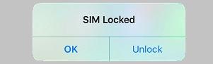SIM Locked Pop-up on iPhone