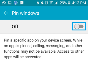 Turn On Screen Pinning Feature on Android