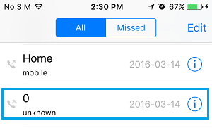 Unknown Caller On iPhone