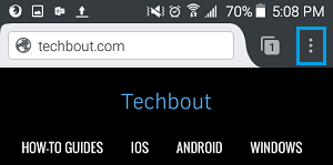 3 Dot Firefox Icon on Android Phone