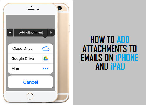 Add Attachments To Email on iPhone And iPad