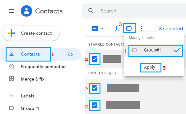 Delete Contacts From Group in Gmail