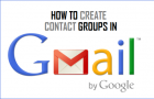 Create Contact Groups in Gmail