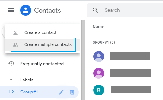 Create Multiple Contacts Option in Gmail