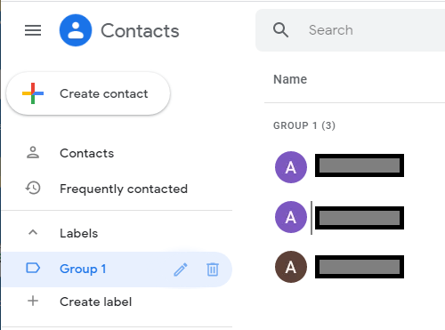 Delete Contact Group in Gmail