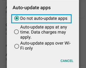 Do Not Auto Update Apps on Android