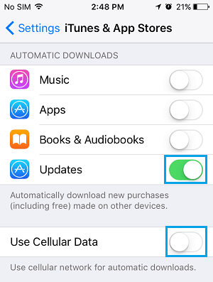 Enable Automatic Ap Updates on iPhone