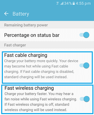 Disable Fast Cable Charging and Fast Wireless Charging On Samsung Galaxy Phone
