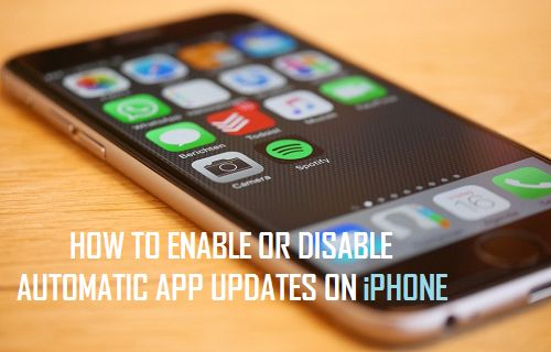 Enable or Disable Automatic App Updates On iPhone