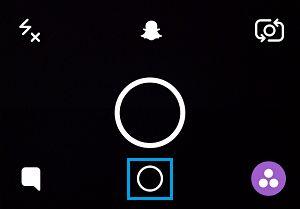 Memories Circle in Snapchat
