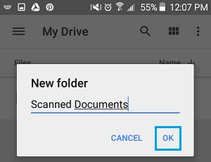 Name New Folder On Google Drive