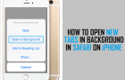 Open New Tabs in Background in Safari On iPhone