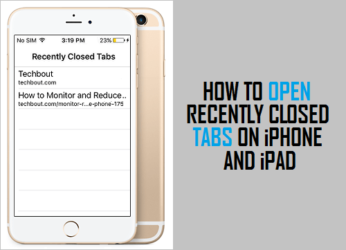 Open Recently Closed Tabs On iPhone and iPad