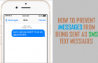Prevent iMessages Being Sent as SMS Text Messages