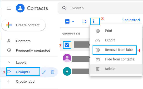 Remove Contacts From Group in Gmail