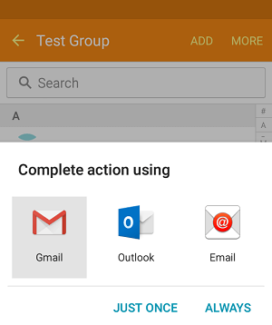 Send Email With Option on Android Phone