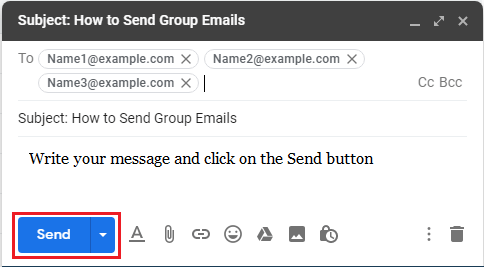 Send Group Email Message