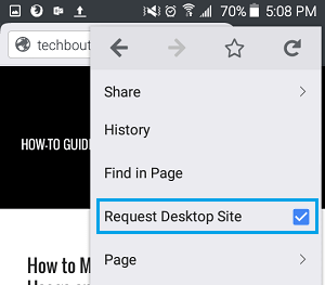 Switch Back to Mobile Site in Firefox on Android