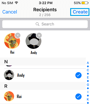 Add Contacts to WhatsApp Broadcast List On iPhone