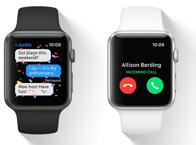 Calls and Messages on Apple Watch