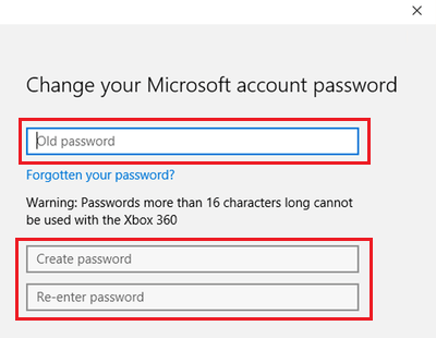 Change Microsoft Account Password