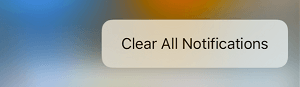 Clear All Notifications in iOS 10