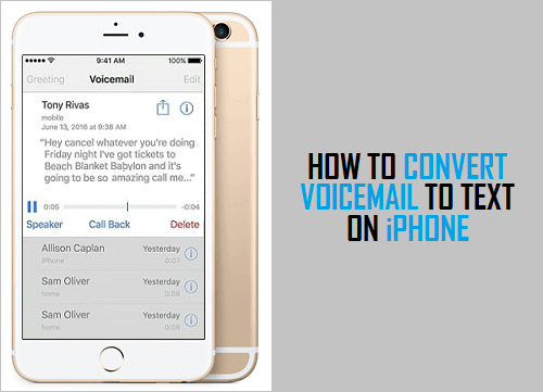 How to Convert Voicemail to Text On iPhone