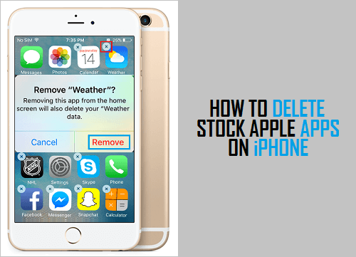 Delete Stock Apps On iPhone and iPad
