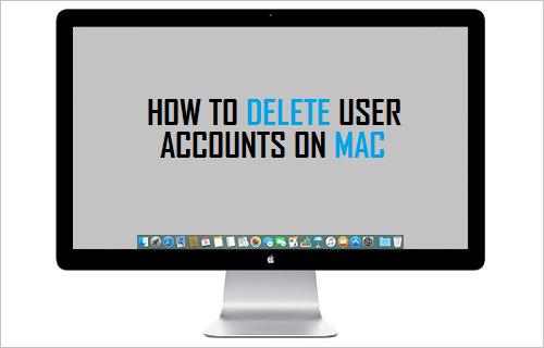 Delete User Accounts On Mac
