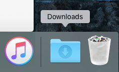 Downloads Folder in Dock on Mac