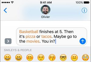 Words in Message That Can be Replaced With Emojis On iPhone