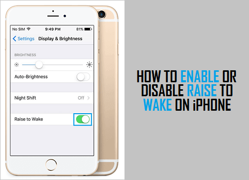 how to enable a disabled iphone how to enable or disable raise to on iphone 18774