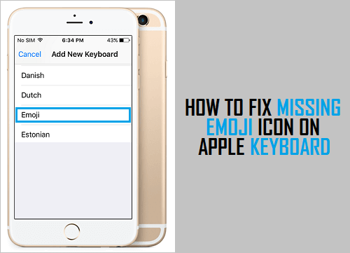 How to Fix Missing Emoji Icon on Apple Keyboard