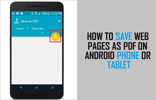 Save Web Pages As PDF on Android Phone