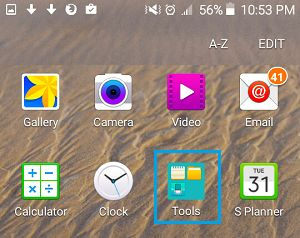 Tools Folder on Android Phone