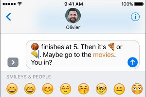 Words In Message Replaced With Emojis On iPhone
