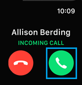 Accept Calls on Apple Watch