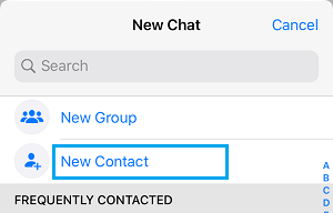 Add New WhatsApp Contact on iPhone