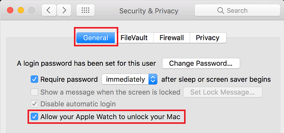 Allow Apple Watch to Unlock Mac