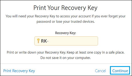 Apple ID Recovery Key