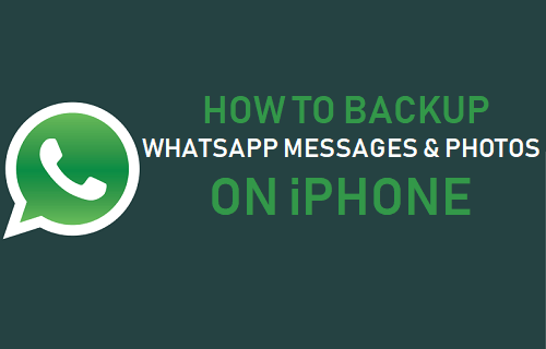 Backup WhatsApp Messages and Photos On iPhone