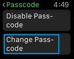 Change Passcode on Apple Watch