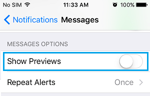 Disable Message Previews on Lockscreen on iPhone