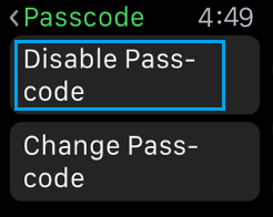 Disable Passcode on Apple Watch