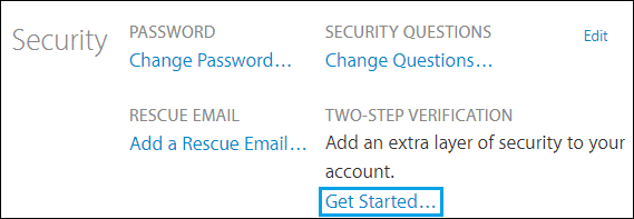Get Started With Two Step Verification