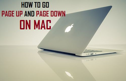 How to Go Page Up and Page Down on Mac