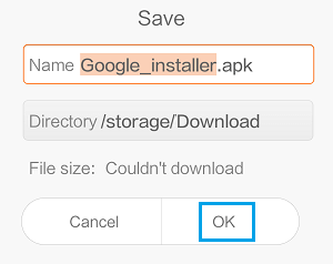 Install Google Installer Apk on Xiaomi Phone